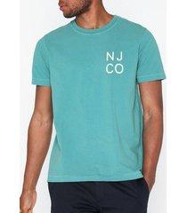 nudie jeans roy njco t-shirts & linnen turkos
