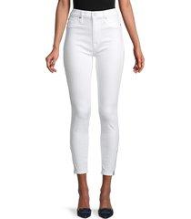 hudson women's blair high-rise zip-hem ankle skinny jeans - white - size 25 (2)