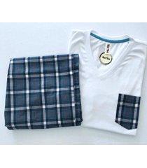 pijama hombre // pantalon y camiseta cuello v