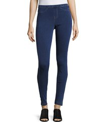 hue women's denim leggings - dark denim - size m