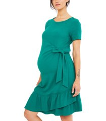 a pea in the pod maternity ruffled dress