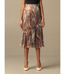blumarine skirt blumarine pleated silk skirt