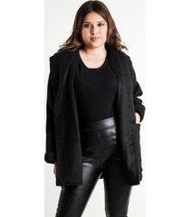 chaqueta corta paño sintético negra night concept