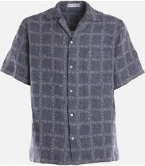 j.w. anderson linen shirt with logo