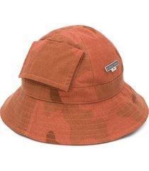 marine serre printed bucket hat - brown