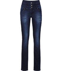 jeans skinny a vita alta (blu) - rainbow