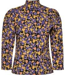 cameagz blouse blouse lange mouwen geel gestuz