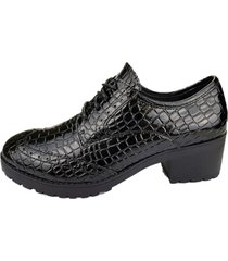 zapato oxford yuta negro chalada