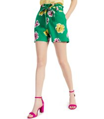 charter club petite floral-print shorts, created for macy's