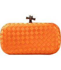 clutch crisfael acessã³rios sintã©tico laranja - laranja - feminino - dafiti