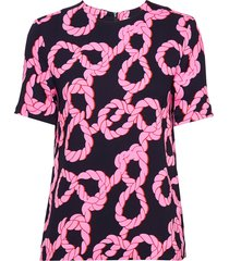 joanna blouses short-sleeved roze tiger of sweden
