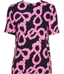 joanna blouses short-sleeved roze tiger of sweden