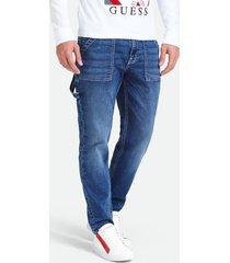 jeansy typu worker z efektem znoszenia