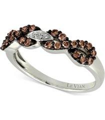 le vian chocolatier diamond infinity ring (3/8 ct. t.w.) in 14k white gold