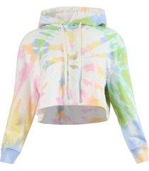 tie-dye joni crop hoodie