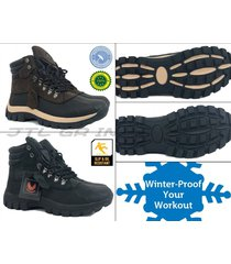 new style men's winter snow rain sport boots shoes leather waterproof top sale