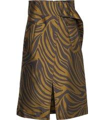 zebra belted topstitch skirt knälång kjol brun 3.1 phillip lim