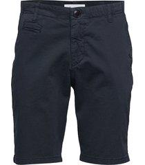chuck regular chino shorts - gots/v shorts chinos shorts blå knowledge cotton apparel