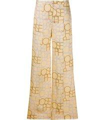 joseph tulip wide-leg trousers - neutrals