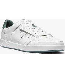mk sneaker adrian in pelle - bianco ottico (bianco) - michael kors