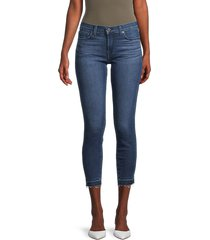 7 for all mankind women's gwenevere released-hem ankle skinny jeans - horizon - size 24 (0)