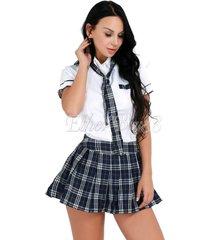 women sexy lingerie halloween school girl uniform fancy dress costume outfit s