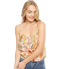blusa billabong s/m multicolor - calce holgado