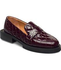 moccasin loafers låga skor brun ganni