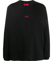 424 logo-embroidered long-sleeved sweatshirt - black