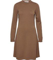 astrid dress knälång klänning brun busnel