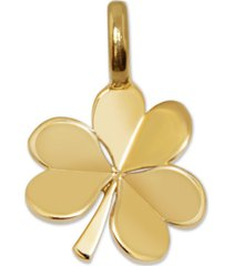 alex woo mini shamrock charm pendant in 14k gold