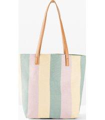 borsa shopper in tessuto (verde) - bpc bonprix collection