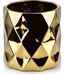 kwietnik osłonka ceramiczna gold
