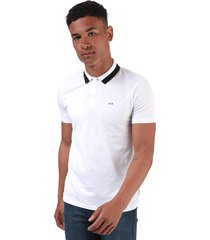 mens bold tipped polo shirt
