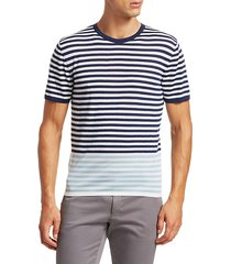 modern striped merino wool t-shirt