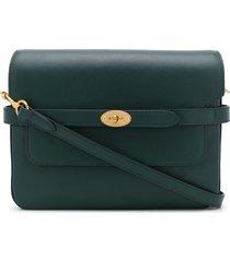 mulberry bayswater belted shoulder bag - green