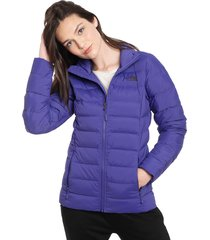 parka the north face w stretch down jacket morado - calce slim fit
