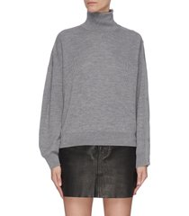 snap hybrid turtleneck sweatshirt