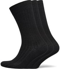 slhpete 3-pack cotton rib sock noos underwear socks regular socks svart selected homme