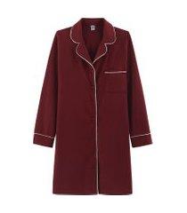 camisola hering chemise manga longa vermelho