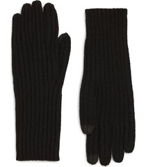 madewell ribbed texting gloves in true black at nordstrom