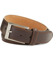 cole haan men's whitefield leather belt - black - size 46