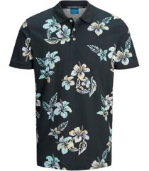 jack & jones men's hazy printed polo shirt