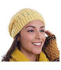 100% alpaca hat, 'buttercup glam' (peru)