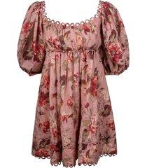 zimmermann cassia scallop mini dress