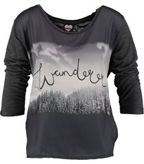 catwalk junkie shirt 3/4 mouw materiaalmix