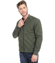 chaqueta selected slh square bomber jkt verde - calce regular