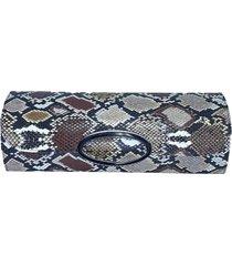 clutch dona constance serpente camel - bege/caramelo/cobre/dourado - feminino - dafiti