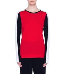 women's akris punto colorblock stripe merino wool sweater