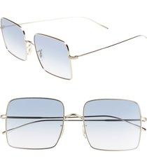 women's oliver peoples rassine 56mm sunglasses - soft gold blue